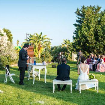 Ceremonia civil en el Jardín Trasero
