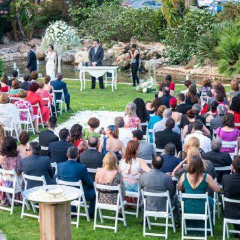 Ceremonia civil en el Jardín Lateral